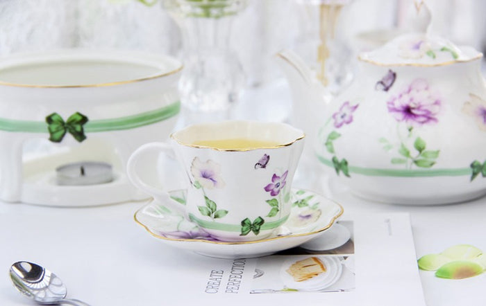 Butterfly Loves Flowers Tea Pot Set - The Little Tea Boutique