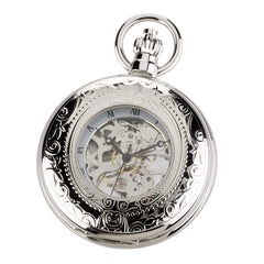 Pocket watch with half hunter case