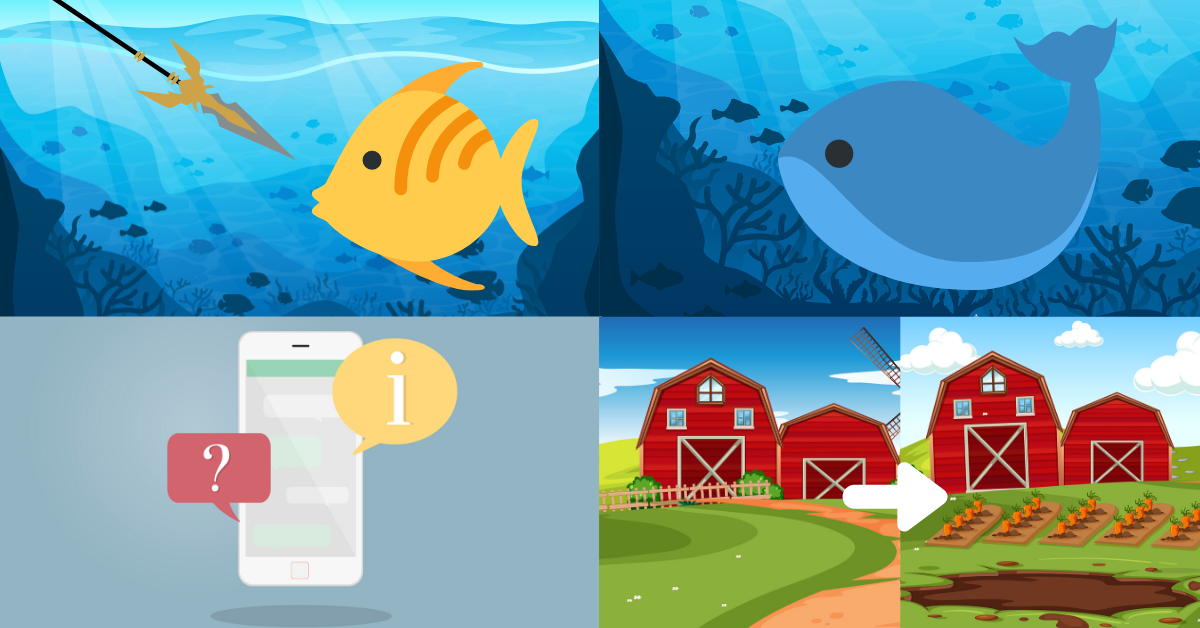 Types of phishing (spear phishing, whaling, sms phishing, farming)