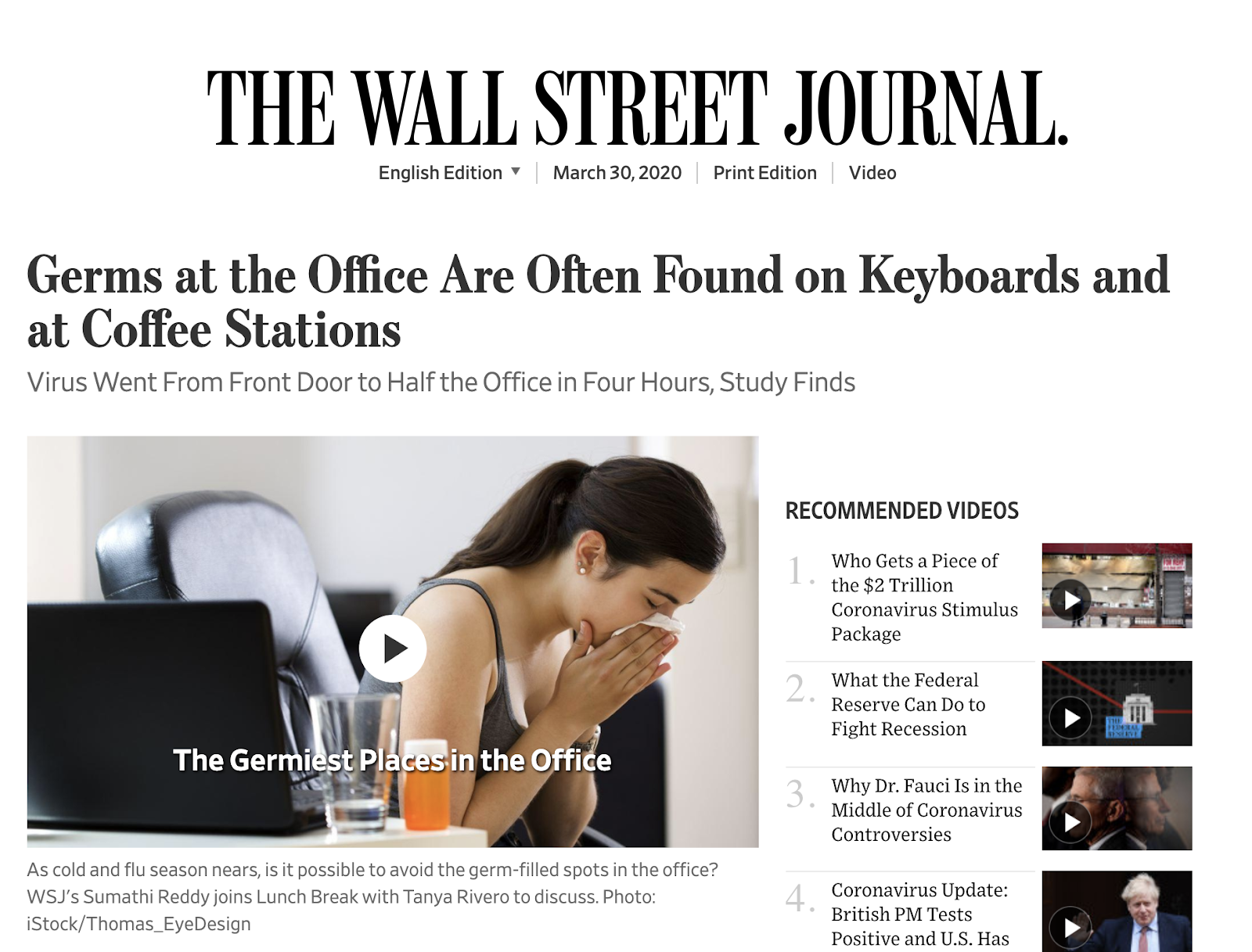 The WSJ Cover