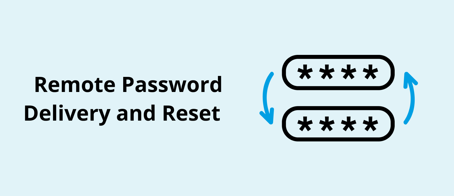 Remote Password Delivery and Reset