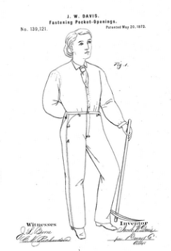 Illustration from jeans patent