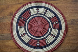 Fulani Handmade Patterned Raffia Placemat - Buy More To Save!