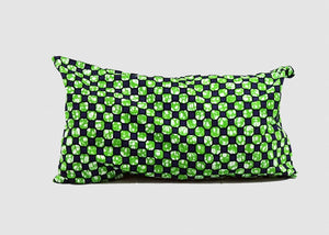 My Gidan - 10X20 <Br> Green And Blue Checkered Print <Br> Throw Pillow Covers Set Of 2