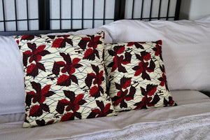 18x18 Joyful Leaves Print Throw Pillows - Set of 2