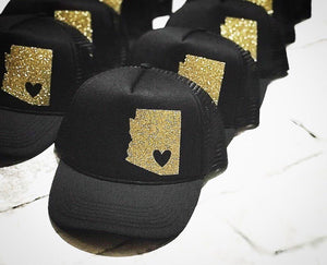 Arizona Glitter Trucker Hat