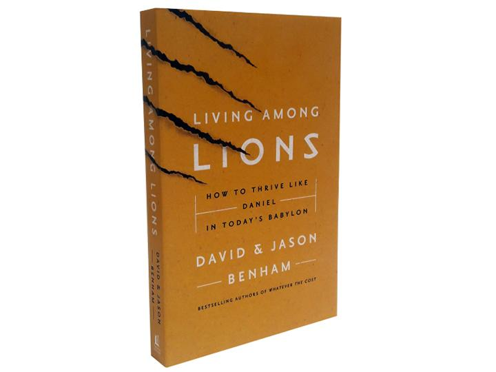Living Among Lions (Book) + Matthew 10:8 (Black, Large)