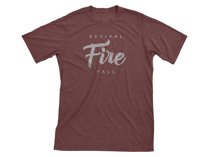 Revival Fire (T-shirt, Burgundy)