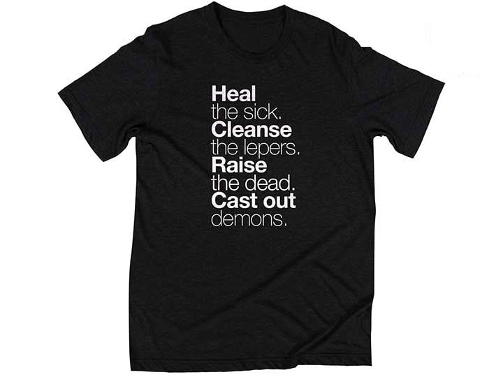 Matthew 10:8 (T-shirt, Black)