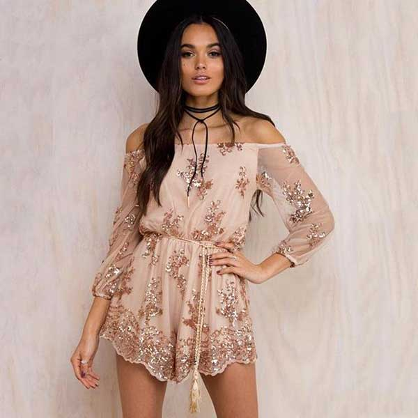 """Splashed with Sequins"" Romper"