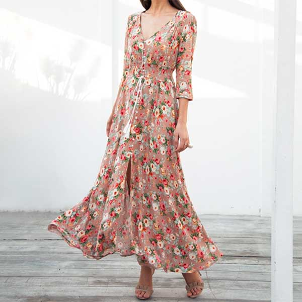 """House of Flowers"" Maxi Dress"