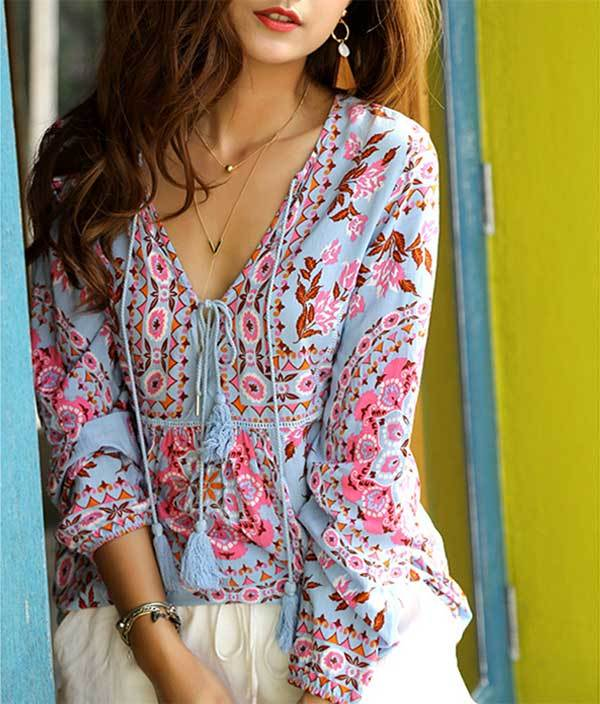 """Hippies Aren't Kooky, They're Fun"" Blouse"