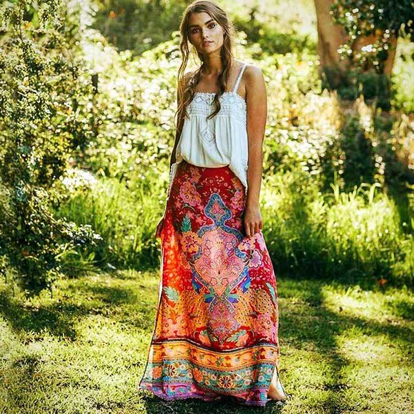 """Ganesh's Dream"" Maxi Skirt"