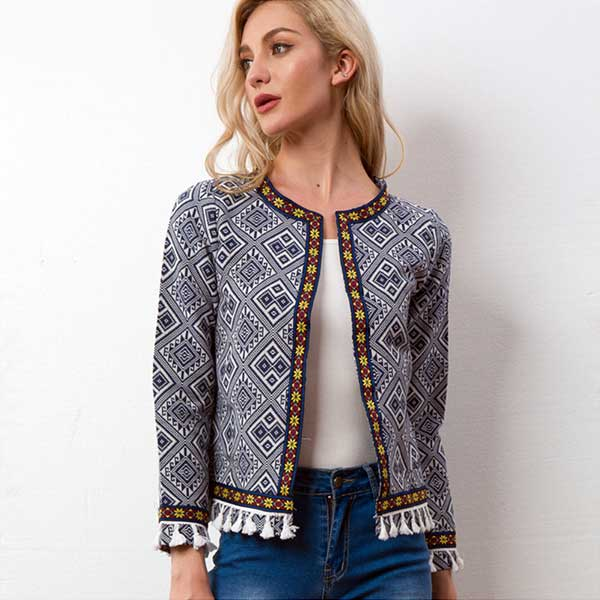 """Tribal Dance"" Retro Jacket"