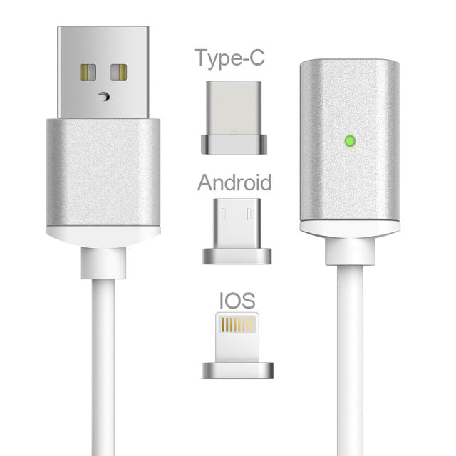 3-in-1 USB Type C/Micro USB/Lightning Cable