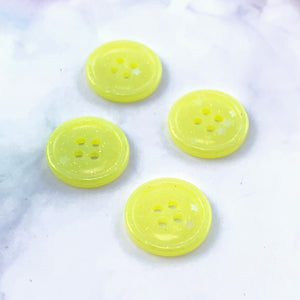 Yellow Glitter Buttons 3/4 inch/19mm