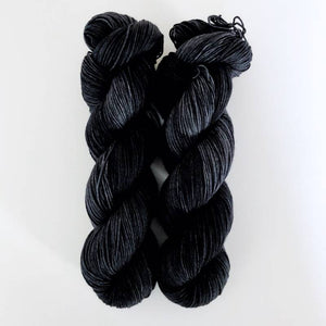 DYED TO ORDER Black Semi Solid
