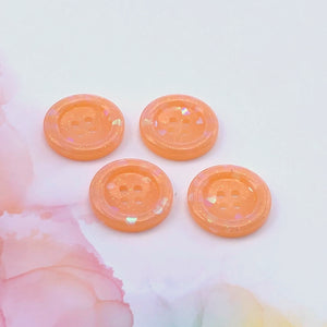 Creamsicle Glitter Buttons 1 inch