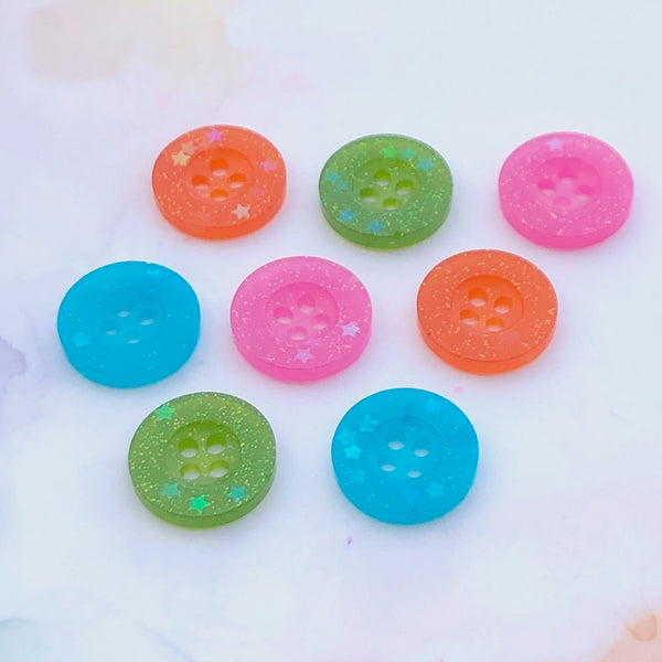 Mixed Glitter Buttons 11/16 inch/18mm
