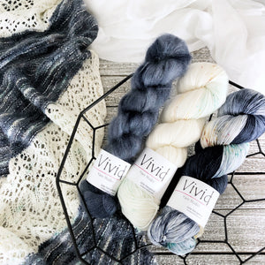 GLASS SLIPPER Kit Kidsilk Lace and Signature Yarn Fingering