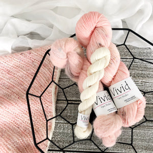 Preorder PEACH BLUSH Kit SuriSilk Lace and Signature Yarn Fingering