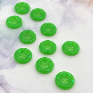 Green Glitter Buttons 11/16 inch/18mm