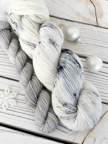 Snowflake + Mini Skein · Signature Sock Yarn