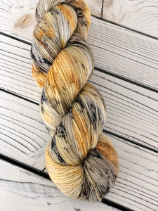 Secret Stash - Autumn Birch · High Twist Sock Yarn