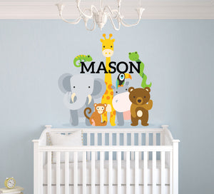 Custom Name Safari Wall Decal