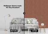 Brown Old Wooden Wall Wallpaper (R1062)