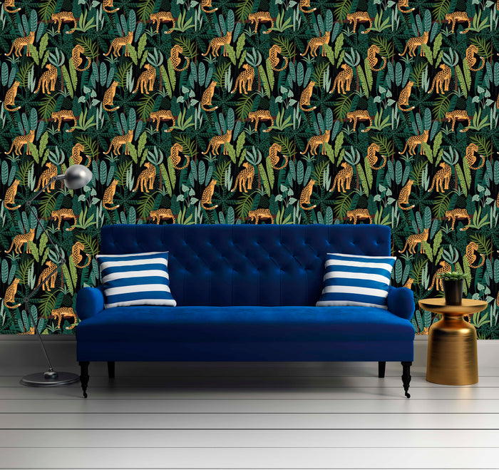 Animal Print in Exotic Jungle Wallpaper R10