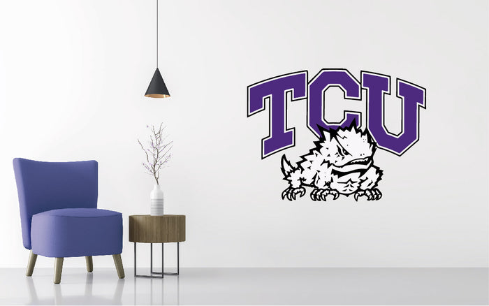 TCU Horned Frogs Football NCAA Wall decal Sticker