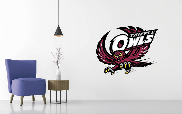 Temple Owls Football NCAA Wall decal Sticker