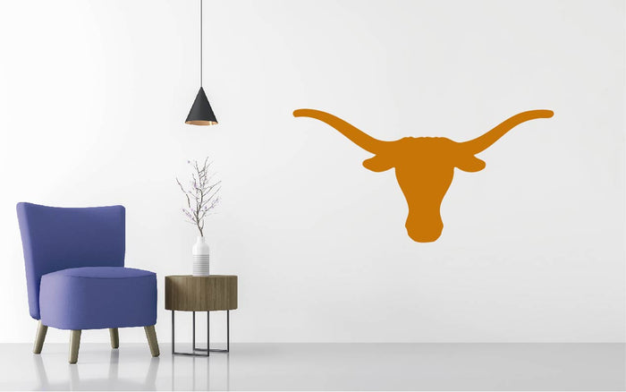 Texas Longhorns Football NCAA Logo Wall Decal