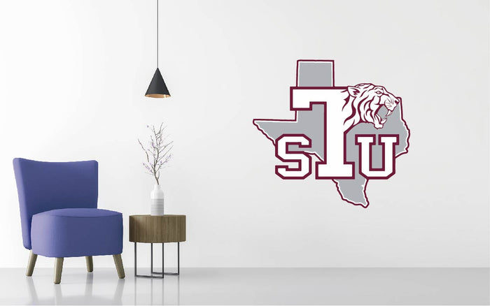 Texas Southern Football NCAA Wall decal Sticker