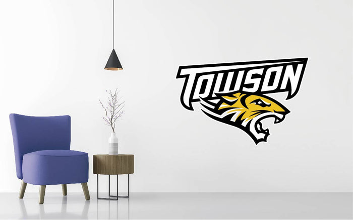 Towson Tigers Football NCAA Wall decal Sticker