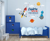 Space Explorers Wall Decal