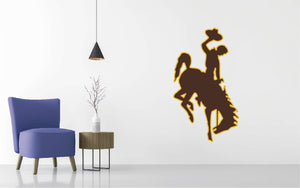 Wyoming Cowboys Football NCAA Wall decal Sticker