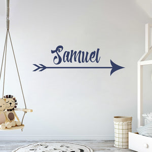 Custom Arrow Name Gold Series - Baby Girl - Wall Decal Nursery for Home Bedroom Children (782)
