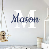 Custom Name & Initial Bold Letters Wall Decal