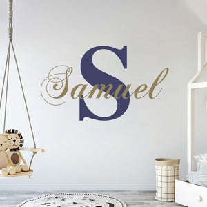 Custom Name in Gold Wall Decal