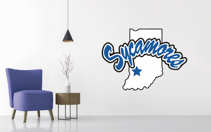 Indiana State Football NCAA Wall decal Sticker