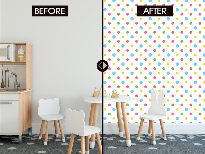 Patterns of Color Dots Theme Wallpaper (R390)