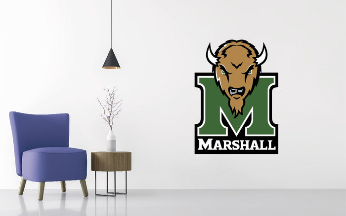 Marshall University Thundering Football NCAA Wall decal Sticker