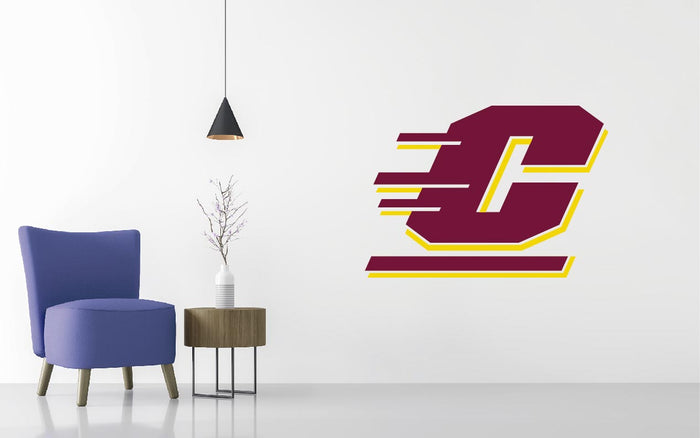 Central Michigan Chippewas Basketball NCAA Wall decal Sticker