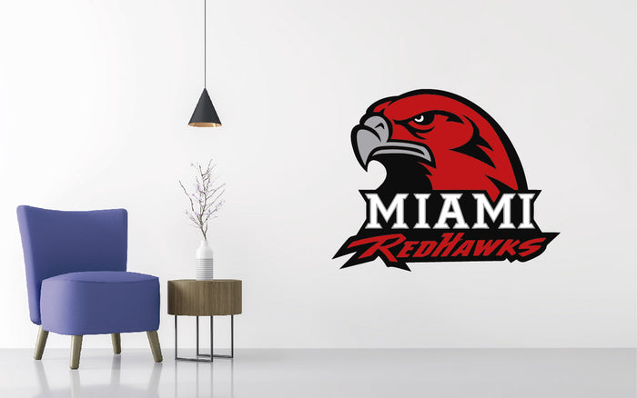 Miami (Ohio) Redhawks Football NCAA Wall decal Sticker