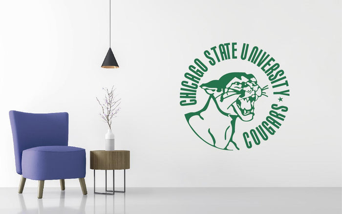 Chicago State Universit Basketball NCAA Wall decal Sticker