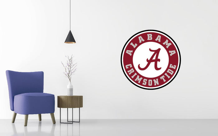 Alabama Crimson Basketball NCAA Wall decal Sticker