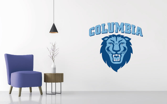 Columbia Lions Basketball NCAA Wall decal Sticker