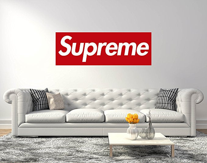 Supreme Logo - Wall Decal For Home Bedroom Living Room Removable Wall Stickers